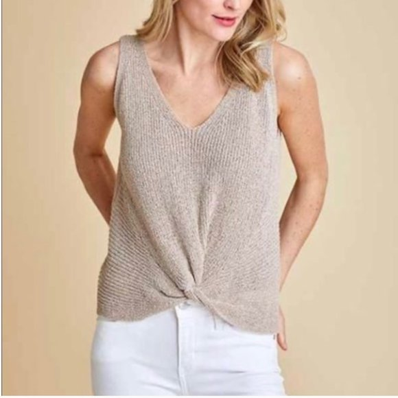 Fate Knot front Sweater Tank Top